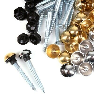 £3.55 • Buy MIRROR SCREWS 8G Polished Brass/Chrome DOME HEAD Fixing Cap Cover Short Long