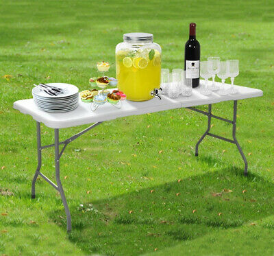£39.90 • Buy 6ft Heavy Duty Folding Table Portable Plastic Camping Garden Party Catering New