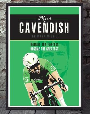 £6 • Buy Mark Cavendish Tour De France Cycling Poster. Specially Created
