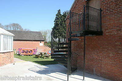 £3914.40 • Buy 1400mm Internal Or External Fire Escape Spiral Staircase -Full UK Regs Compliant