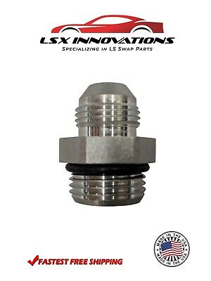 $5.99 • Buy -6AN Flare To -8 ORB O Ring Boss Adapter AN Fitting Bare Aluminum Made In USA
