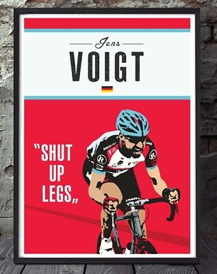 £6 • Buy Jens Voigt Tour De France Cycling Unframed Cycling Print