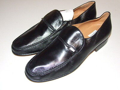 Russell & Bromley Moreschi Classic Moccasin Shoes Black  • 130£