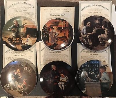 $ CDN66.67 • Buy Norman Rockwell 10 Plate Lot Of Collectors Plates Limited Edition W/ COA Bontage