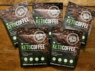 $20.99 • Buy It Works! KetoCoffee Keto Coffee 5 Single Serve Packets - New! Carb Management