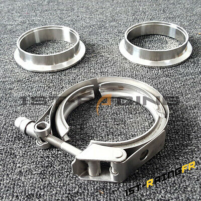 AU25 • Buy 3  3 Inch Quick Release V-Band Clamp V Band +2 Flange Kit Stainless Steel  76mm