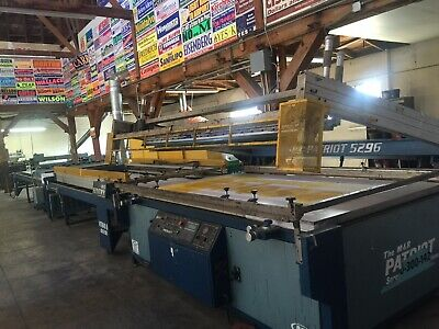 $25000 • Buy Silk Screen Printing Presses And Ultra Violet Curing Systems.  Large Format.