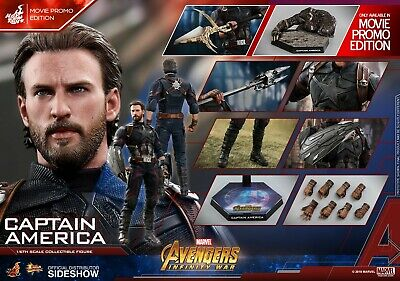 $ CDN410.89 • Buy Hot Toys MMS481 Avengers Infinity War Captain America Movie Promo Edition USA