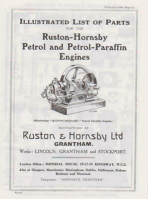 Ruston Hornsby IP Engine - Parts List • 6£