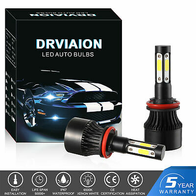 AU29.99 • Buy 2x 4 Sides H11 LED Headlight Halogen Globes Bulbs Xenon 12V 55W 6500K HI/LO Beam