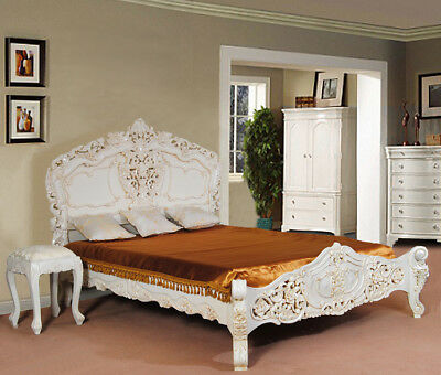 Top Quality White ROCOCO BED Frame From Manufacturer All Sizes Fast Delivery • 1,049£