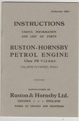 Ruston & Hornsby 6PB Instructions/Parts List - Villiers Mag. • 5£