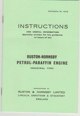 Ruston & Hornsby IP Instruction Book, • 5£