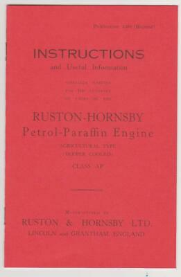 Ruston & Hornsby AP Instruction Book - Bosch Mag. • 5£
