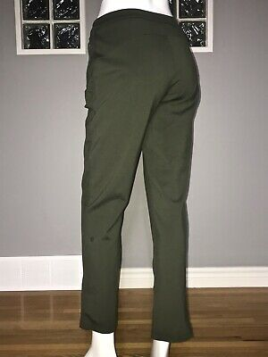 "$ CDN112.50 • Buy Lululemon On The Move Pant Ponte 6 Dark Olive 28"" Eeuc Commuter Trouser"