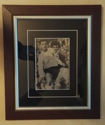 GEORGE BEST NORTHERN IRELAND Vs ENGLAND MILNE SIGNED PICTURE MOUNTED FRAMED • 120£