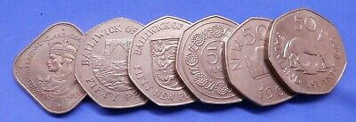 Fifty Pence 50p Large Size Coins Falklands Gibraltar Guernsey Jersey St Helena  • 4.95£