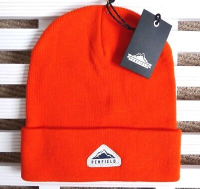 PENFIELD USA Orange Beanie Hat - Super Comfy & Warm - One Size Adult - Toque NEW • 24.99£