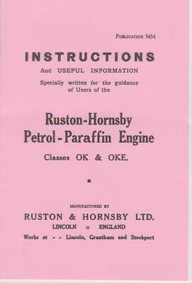 Ruston Hornsby OK  Instruction Book - With Wico EK Magneto • 5£