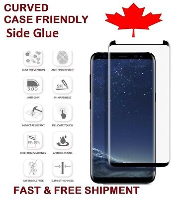 $ CDN6.99 • Buy Full Cover Tempered Glass Screen Protector For Samsung Galaxy S8 S9 Plus Note 8