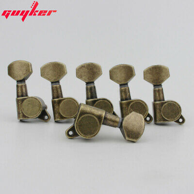 $ CDN35.36 • Buy 6R Antique Brass Guitar Tuners Guitar Tuning Pegs Machine Head J-07 Lock