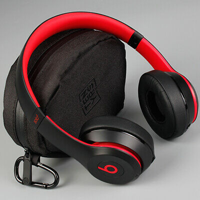 View Details  Beats Solo3 Wireless On-Ear Headphones Decade Defiant Black-Red *REFURBISHED*  • 85.90£