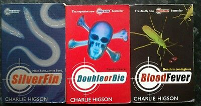 £5 • Buy Charlie Higson, 3 Young Bond Series Paperback Books