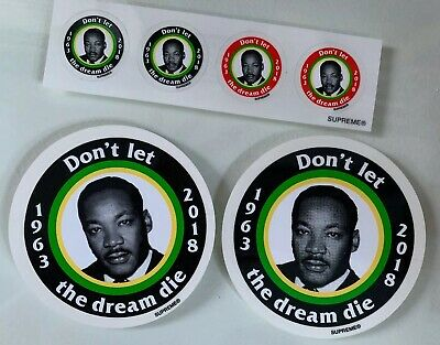$ CDN20.05 • Buy Supreme Martin Luther King Sticker SS18 New Lot Of 6 Big And Small