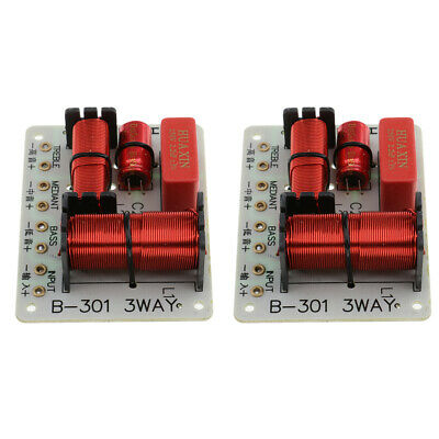 $ CDN18.38 • Buy 2Pieces 3 Way Audio Speaker Frequency Divider Aplifier Crossover Filter