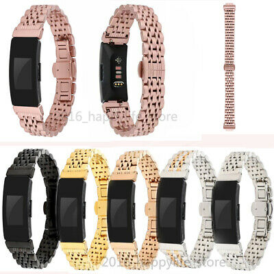 AU15.99 • Buy For Fitbit Inspire/Inspire HR Watch Band Metal Stainless Steel Wristband Strap