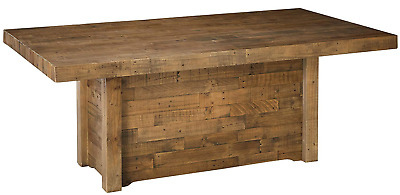 $649.99 • Buy Large Rustic Dining Table Reclaimed Wood Butcher Block Kitchen Distressed Brown