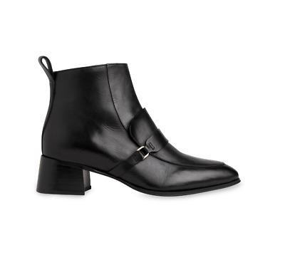 Whistles - Century Leather Loafer Boot - New In Box -  Black - Size 4 • 195£