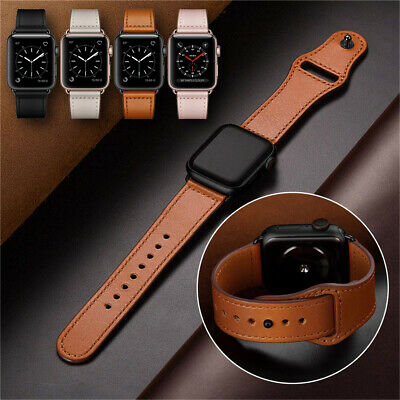 $ CDN18.85 • Buy 40/44mm Genuine Leather Apple Watch Band Strap For IWatch Series 5 4 3 2 38/42mm