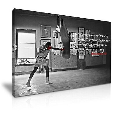Muhammad Ali Boxing Sports Quote Canvas Wall Art Picture Print 76cmx50cm • 30.99£