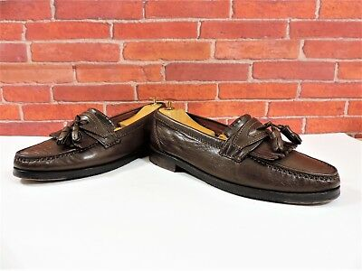 Bally Mens Shoes Tan Fringed Penny Loafers UK 7.5 US 8.5 EU 41.5 V Minor Use  • 109£
