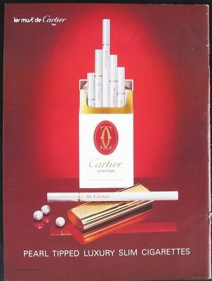 $ CDN12.07 • Buy Cartier Cigarettes Print Ad Cut From A 1990 Magazine