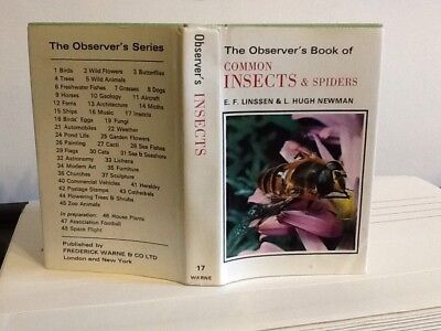 £9.99 • Buy Observers Book Of Insects & Spiders 1973~