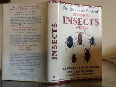 £16.99 • Buy Observers Book Of Insects 1966 -