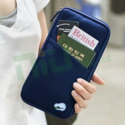 AU5.85 • Buy OZ Travel Wallet Passport Holder Document Organiser Bag Ticket Credit Card Case