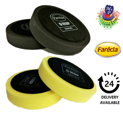 Farecla Foams 4 PACK, 2 X GMF601 Polish + 2 X GMC612 6  150mm Black Hook & Loop • 22.49£