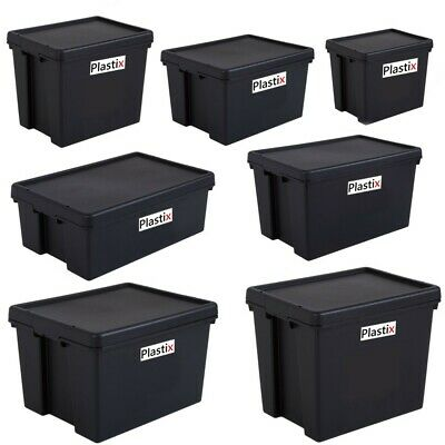 Strong Bam Heavy Duty Plastic Storage Box Boxes With Lids Recycled Upcycled • 147.95£