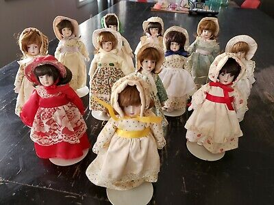 $ CDN438.49 • Buy Lot Of 12 Kaiser Chicago Porcelain Dolls 8   With Stand