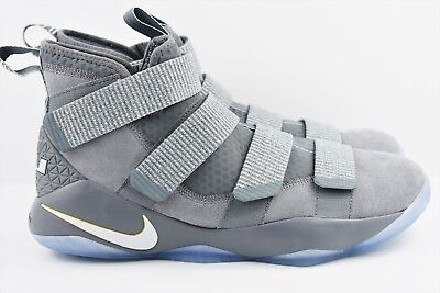 aa3f95f7a99a Nike Lebron Soldier XI 11 Mens Multi Size Basketball Shoes Platinum 897644  010 • 97.99