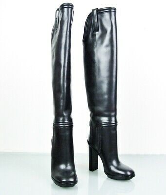 efaa90aee Gucci New Trish Black Leather Over The Knee Boots Size 39 In Box $1795 •  698.00