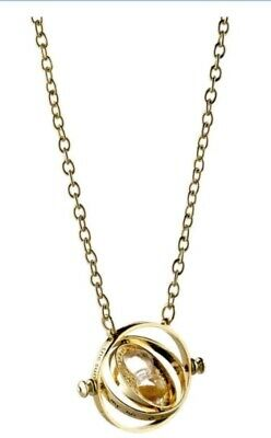 $7.99 • Buy 2x Harry Potter Gold Time Turner /Hermione Granger Rotating Necklace FAST Ship