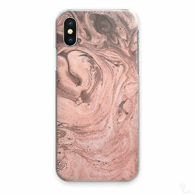 AU12.62 • Buy Pink Marble Phone Case Peach Pink Swirl Hard Cover For Apple Samsung Huawei..