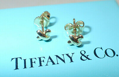 06be1a711 Vintage 1990's Tiffany & Co Paloma Picasso 750 18K Tiny X Post Earrings In  Box •