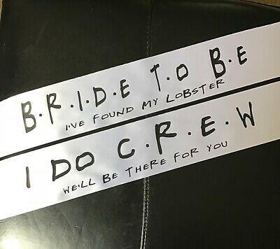 £3.95 • Buy Friends I've Found My Lobster Bride To Be Hen Party Modern Sash