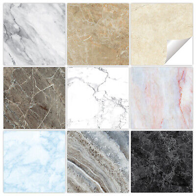 £1.89 • Buy Marble Tile Stickers Transfers - 9 Colours - Bathroom Kitchen - MM1