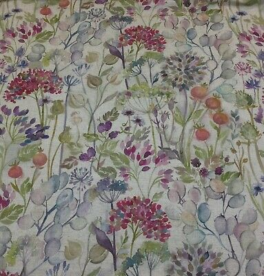 VOYAGE MAISON Hedgerow Linen Floral Fabric,Upholstery/Curtains/Blinds/Cushions • 29.50£